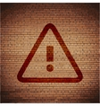 Danger exclamation mark flat modern web button and vector