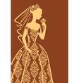 Vintage lady dress vector