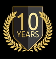 Laurel wreath 10 years vector
