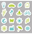 Environment stickers vector