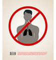Silhouette man with cigarette vector