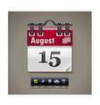 Calendar xxl icon vector