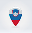 Slovenian icon point for map vector