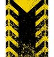 Grungy worn hazard stripe vector