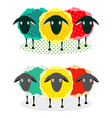 Three sheep vector