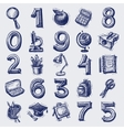 25 sketch education icons vector