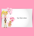 Valentine girl greeting card vector