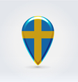 Swedish icon point for map vector
