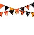 Halloween bunting flags vector