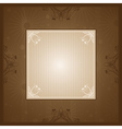 Brown background with decorative ornaments vector