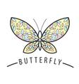 Elegant butterfly logo of the petals vector