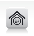 Explosive house icon vector