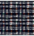 Hand painted plaid pattern vector