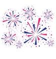 Fireworks on white vector