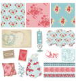 Scrapbook vintage wedding vector