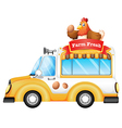 A vehicle selling farm fresh products vector