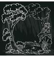 Autumn doodle frame vector