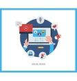 Communication and social media vector