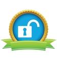 Gold unlock logo vector