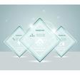 Eps10 glass transparent web box vector