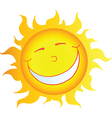 Happy smiling sun cartoon character vector