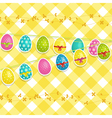 Hanging easter egg background vector