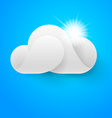 One white cloud on blue sky vector