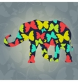 Decorative background with elephant and vector