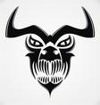 Tribal demon skulls vector