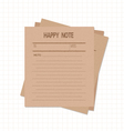 Happy notes retro vector