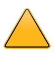 Blank yellow warning sign isolated vector