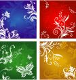 Vegetative and flower ornament vector