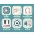 Set of icons music for app vector