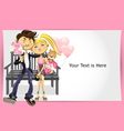 Valentine couple greeting card vector