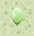Green balloon on bokeh background vector