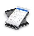 Smartphone news applications vector