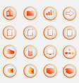Orange buttons pack vector