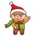 Little boy santa vector