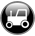 Tractor button vector