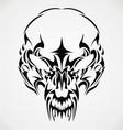 Tribal scary skulls vector