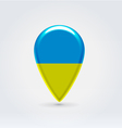 Ukrainian icon point for map vector
