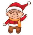Little santa boy vector