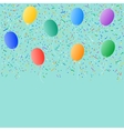 Colored balloons confetti background vector