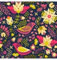 Decorative floral background with flowers and vector