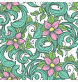 Seamless floral hand draw pattern vector