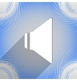 Speaker volume icon symbol flat modern web design vector