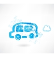 Bus grunge icon vector