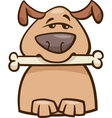 Mood busy dog cartoon vector