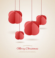 Stylized christmas balls vector
