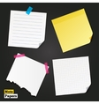 Different note papers and stickers vector